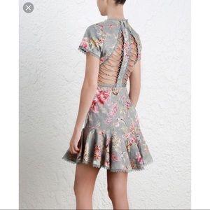 DAMAGED Zimmermann Mercer Flutter Dress Size 1